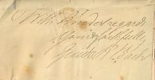 Signed slip of Paper 1800s German Artist Guido R. Bach