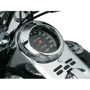 Kuryakyn 112 Chrome Speedometer Visor for Harley Road King, Softail, Wide Glide