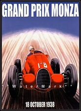 Monaco Grand Prix 1938 Monza Vintage Poster Print Retro Travel Car Racing Art