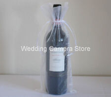 12 Quality white Organza Bags - Bottle/Wine bags,Gift bag 6x14""