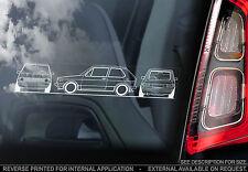 VW Golf MK1-Coche Etiqueta De La Ventana-club Foro de Volkswagen GTI Contorno Mark 1 Nuevo