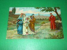 Cartolina Dante e Beatrice - Olivotto 1907