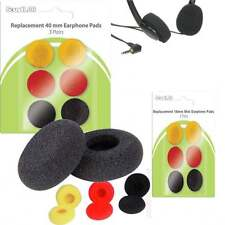 Soundlab 40mm & 18mm Replacement Foam Headphone Earphone Pads Pack of 6 Coloured