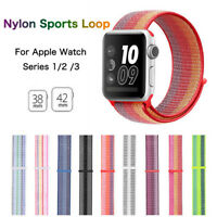 38/42mm Nylon Sports Loop iWatch Band Wrist Strap Bracelet for Apple Watch 1 2 3