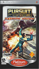 PURSUIT FORCE EXTREME JUSTICE PLATINUM for PSP - with box and manual