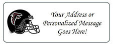 60 Personalized Atlanta Falcons Personalized Return Address Labels