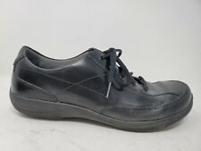 Dansko Emma Womens Comfort Walking Shoes Size 10 40 Black Leather Lace Up