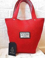 88c994f50b707 HARRIS TWEED MINI TOTE BAG RED TWILL HANDBAG COTTON FLORAL PRINT LINING GIFT