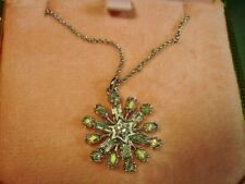 Juicy Couture Colorful Rhinestone Snowflake Necklace Mint in Box #YJRU445 18A095