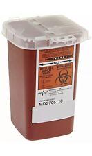 Medline 1 Quart Sharps Container Biohazard Needle Disposal Tattoo Ships Free