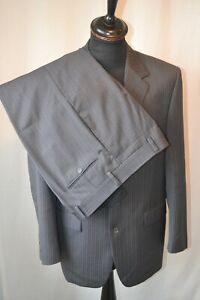 """Vintage Yves Saint Laurent grey pin stripe 2 piece suit size medium 40"""" W 34"""""""