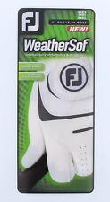 FootJoy Weathersof Mens Cadet Left Hand Glove White/Black Sz Small