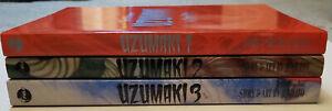 Uzumaki Volumes 1, 2,and 3, Junji Ito 1st printing Viz/Pulp Graphic Manga 2001