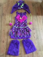 WOMENS Monster HALLOWEEN COSTUME Size SMALL 2 4 Purple Pink FURRY