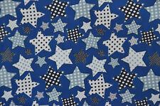 Sweat blau mit Sternen 30 x 135 cm Rest