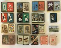 LARGE Lot of vintage Playing Cards 29 Decks NEW & USED ANIMALS ART SCOTTIES