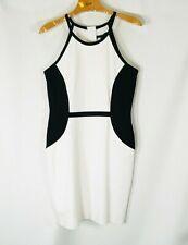 WHITE HOUSE BLACK MARKET Dress Ponte KNit Stretch Black White Slimming! 10