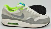 Nike Air Max 1 Gs Suede Trainers 555766-104 Green/Grey/White UK5.5/US6Y/EU38.5