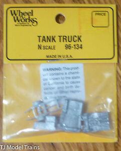 Wheel Works N #96-134 Tank Truck (Kit) Light Cast Metal (1:160th Scale)