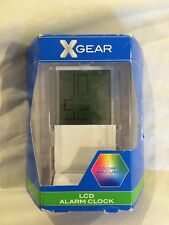 XGear  LCD Alarm Clock Colorfuf Back Light  White Base NEW
