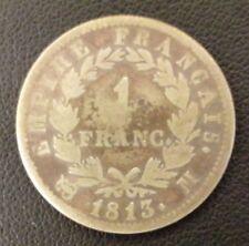 FRANCE NAPOLEON Ier 1 FRANC TETE LAUREE 1813 M TOULOUSE