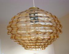 LIMBURG Hängelampe Glas Leuchte Amber Light Flush-Mount Helena TYNELL Era 60s