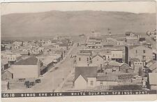 RPPC,White Sulphur Springs,MT.Bird's Eye View,Meagher Co.Chamberlin Photo,c.1910