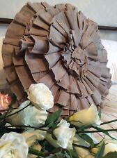 Gorgeous Chic Ruffle Frill Cushion / Round Pillow Cover ~ Fab Interior Design BN