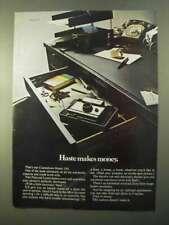 1970 Polaroid Model 350 Camera Ad - Haste Makes Money