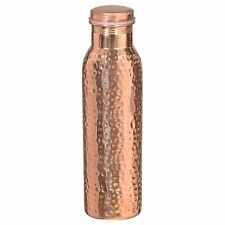 Indian Hammered Traditional Pure Copper Water Bottle Yoga Health Benefits 950 ML