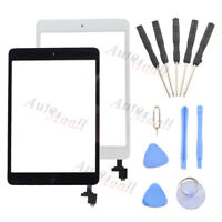 For iPad Mini 1 2 Touch Screen Glass Digitizer Replacement+ IC Chip +Home Button