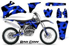YAMAHA YZ250F YZ450F 06-09 GRAPHICS KIT CREATORX DECALS RAD COW BL