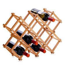 Étagère à Vin Meuble en Bambou Range-Bouteilles Porte-Bouteille Depose Armoire A