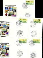 Bund ATM 1 Schalterwertzeichendrucker FDCs 1989, 14 Stk. verschiedene