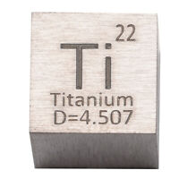High Purity Titanium Metal 10mm Density Cube 99.95% Pure for Element Collection