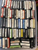 Lot 120 8 Track Cassettes Tapes. 60s70s80s. Clean