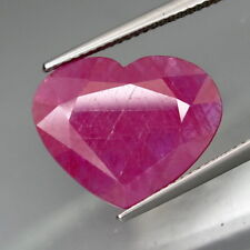 8.20Ct.UNHEATED! Natural BIG Ruby Winza,Tanzania HEART 2Faces in One Piece!