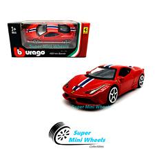 Bburago 1:64 Ferrari 458 Italia Speciale ( Red ) Race & Play 2019 Brand New