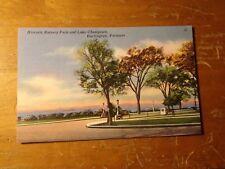 Vintage Postcard Historic Battery Park And Lake Champlain, Burlington, Vt.