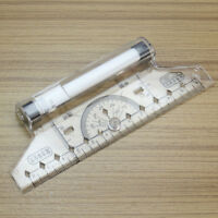 Plastic Metric Squares Angles Parallel Multi Purpose Drawing Rolling Ruler Tool