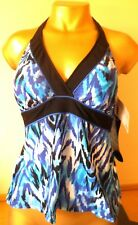 Gorgeous Padded/Slimming  Tankini Top -  Size 12 - By Kirkland Miraclesuit