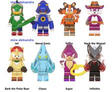 8 pcs minifigures Sonic Jet Chaos Sticks Anime Sonic The Hedgehog  lego MOC