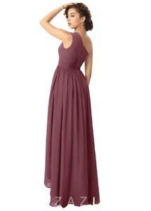 Azazie Bridesmaid One Shoulder Chiffon Dress Mathilda Mulberry