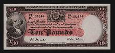 Ten Pounds Australian Banknote 1954 Coombs Wilson R62 WA/16 UNC