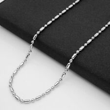 2.4mm Wholesale Unisex Stainless Steel Bead Ball&Oval Chains Necklace 20''-32''