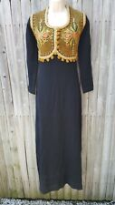 Vintage Egyptian Womans Dress Kaftan Tunic Embroidery