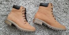 DOROTHY PERKINS MALMO LADIES BOOTS NEW SIZE UK 4 TAN LACE UP