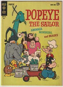 Popeye the Sailor #68 Gold Key Comics May 1963 Bud Sagendorf