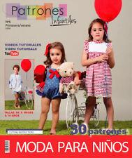 SEWING Pattern MAGAZINE Book Summer 18 baby girl boy toddler spanish clothing
