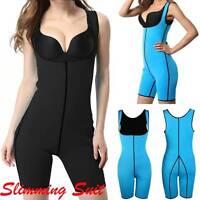 Women Bodysuit Shapewear Full Body Shaper Weight Loss Sauna Suit Slimming US